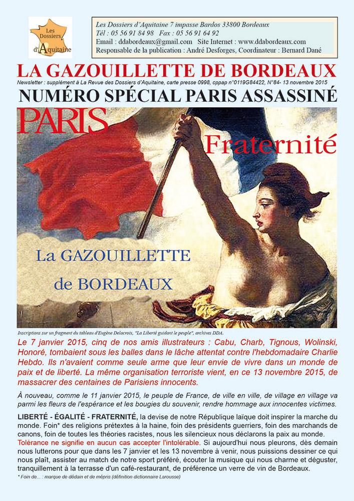 Gazouillette N°84 – numéro spécial – Paris Assassiné