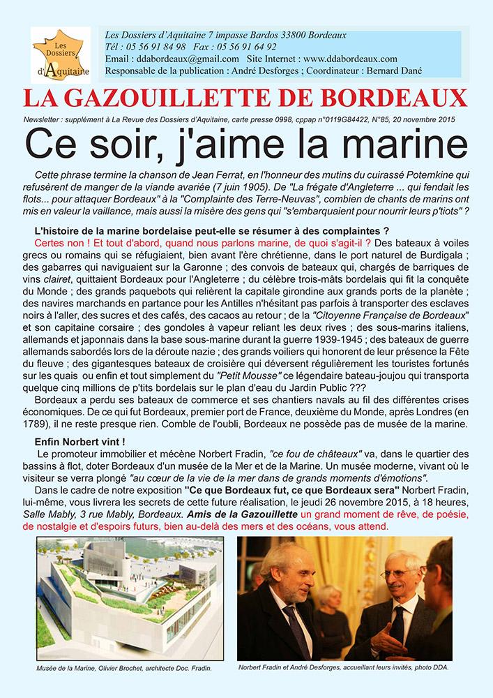 Gazouillette N°85 – LA MARINE