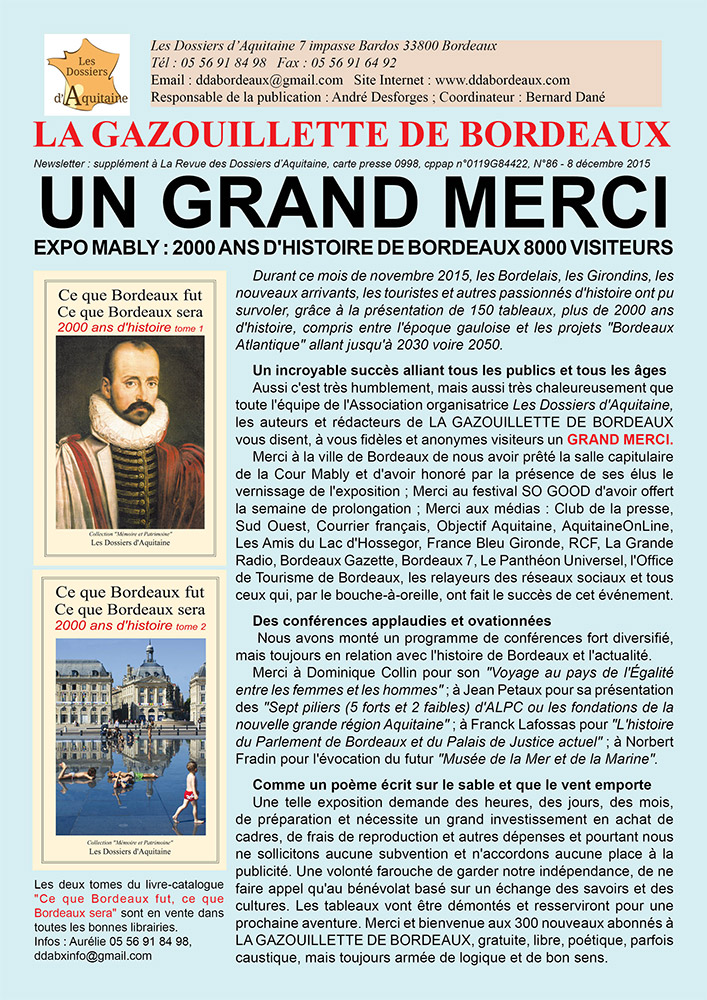 Gazouillette N°86 – Un grand merci