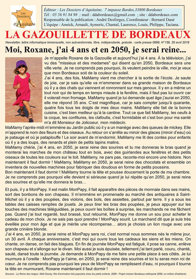 Gazouillette n°159 Bordeaux 2005 Moi Roxane
