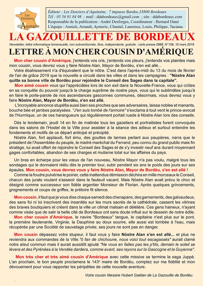 Gazouillette-n°156-Mon-cousin-dAmérique-départ-Juppé
