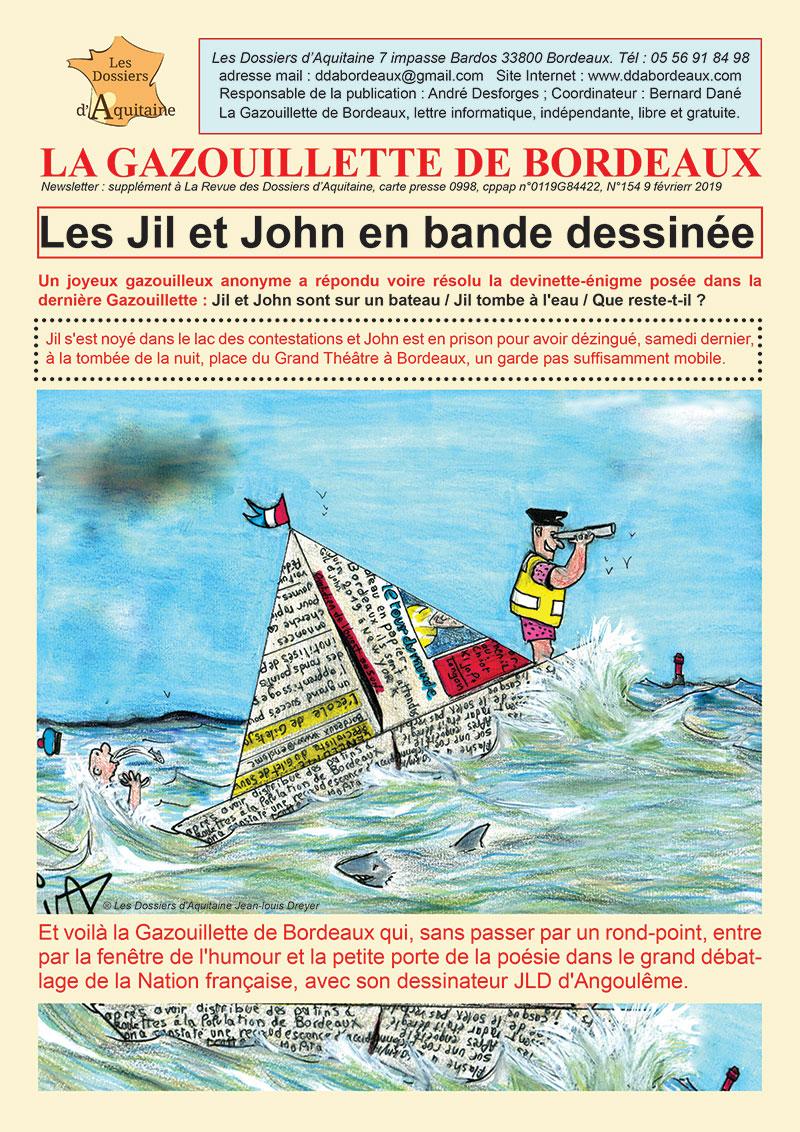 Gazouillette N°154 Jil et John BD