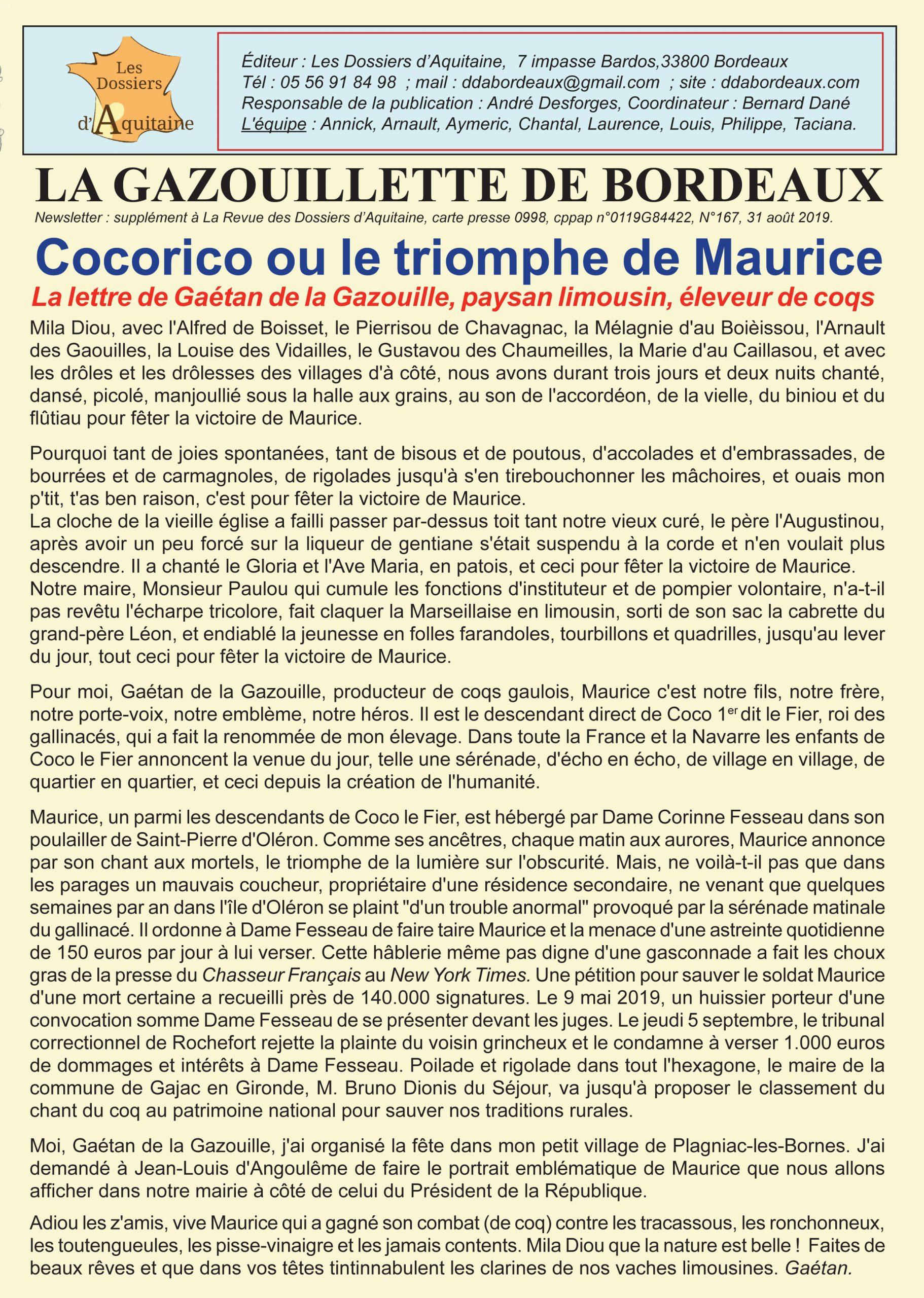 Cocorico ou le triomphe de Maurice