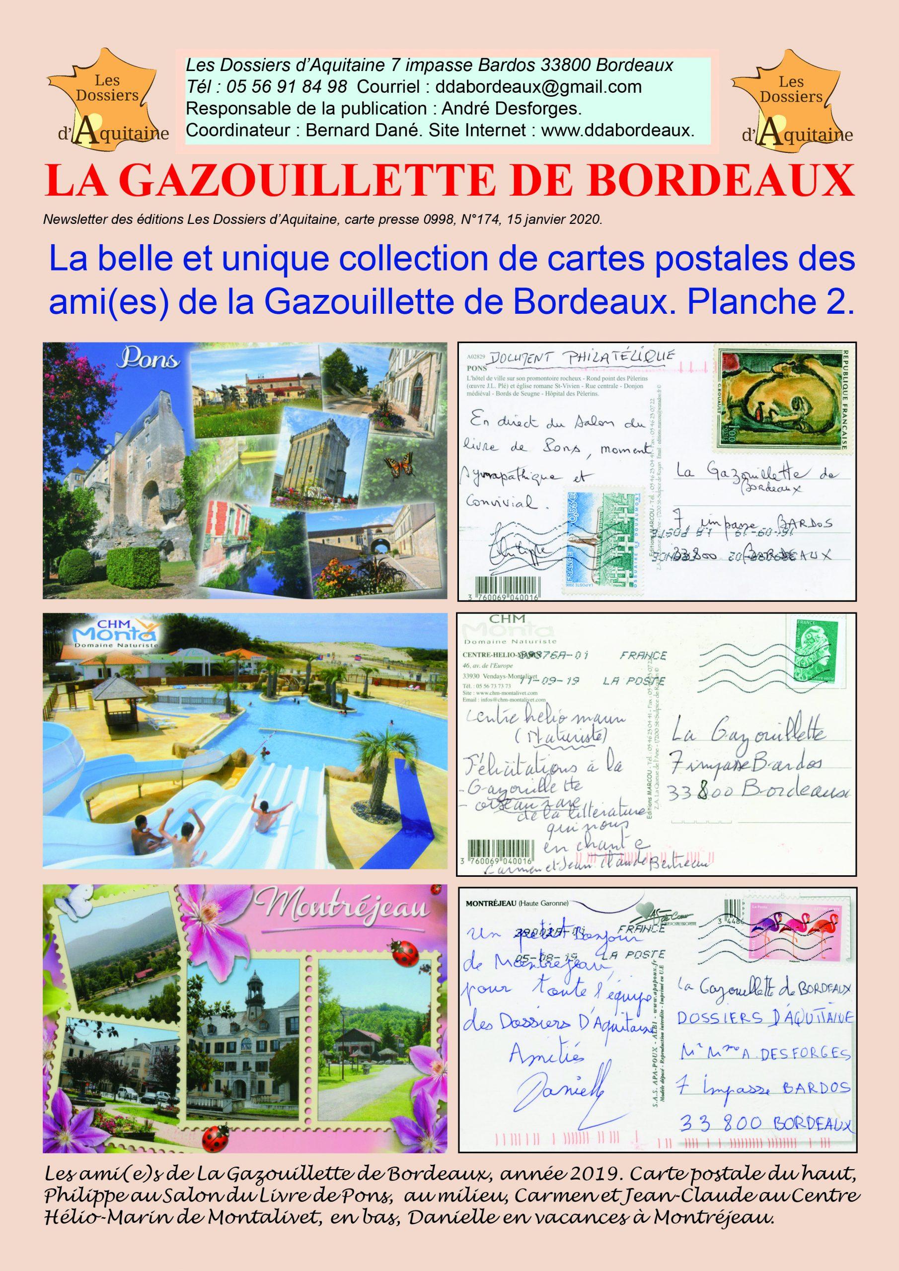 Gazouillette 174 cartes postales 2 du 15/01/2020